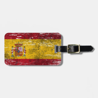 Scuffed and Worn Spanish Flag Bag Tag