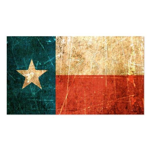 Texas business card templates bizcardstudio scuffed and worn texas flag business card templates colourmoves
