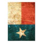 Scuffed and Worn Texas Flag 3.5x5 Paper Invitation Card