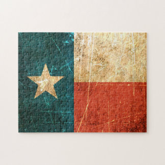 Scuffed and Worn Texas Flag Jigsaw Puzzle