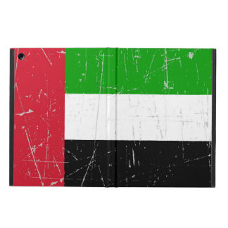 Scuffed Scratched United Arab Emirates Flag Cover For iPad Air
