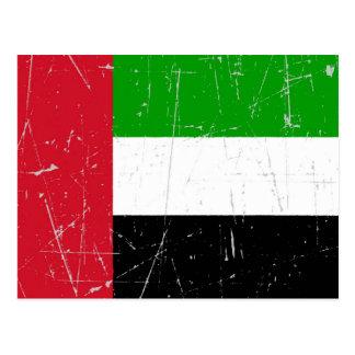 Scuffed Scratched United Arab Emirates Flag Postcard