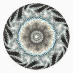Scuibbish - Fractal Classic Round Sticker