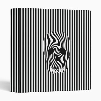 Scull and Stripes, Op Art Binder