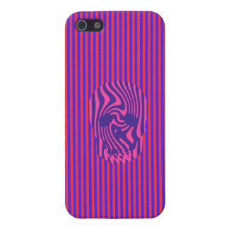 Scull and Stripes, Op Art Case For iPhone SE/5/5s