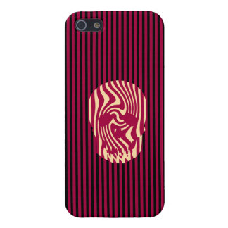 Scull and Stripes, Op Art Cover For iPhone SE/5/5s
