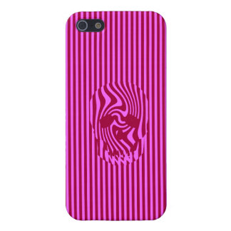 Scull and Stripes, Op Art iPhone SE/5/5s Case