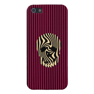 Scull and Stripes, Op Art iPhone SE/5/5s Cover