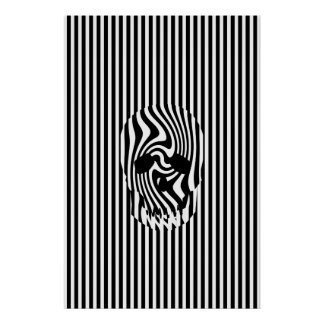 Scull and Stripes, Op Art Poster