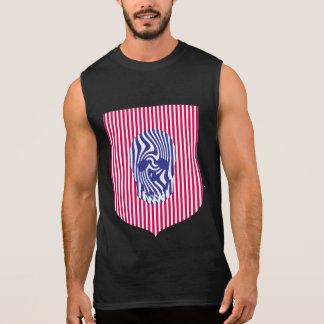 Scull and Stripes, Op Art Sleeveless Tee