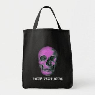 Scull asustadizo bolsa tela para la compra