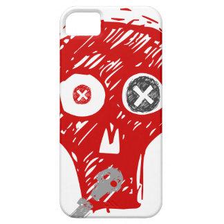 Scull del Grunge en rojo y gris iPhone 5 Case-Mate Funda