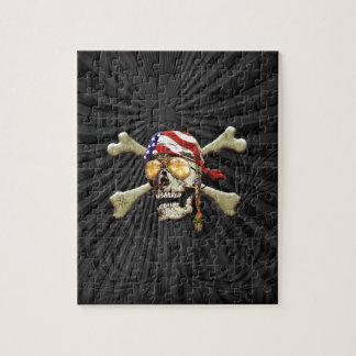 Scull del pirata puzzle