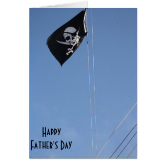 Scull Flag Father's Day Card Greeting Card