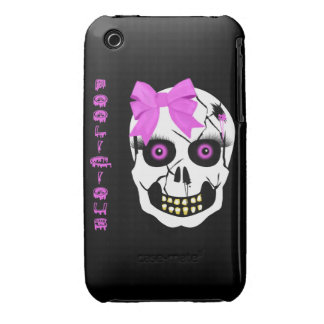 Scull Girl iPhone 3 Cover
