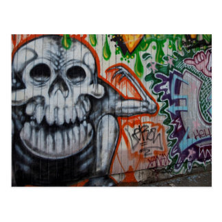 Scull Grafitti Postcard