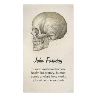 scull human head and bones business card