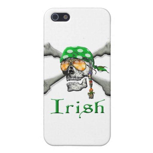 Scull irlandés y huesos cruzados iPhone 5 funda