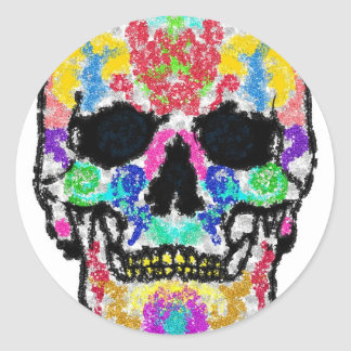 Scull products round stickers
