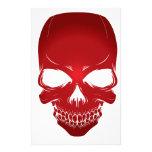 Scull rojo papeleria personalizada