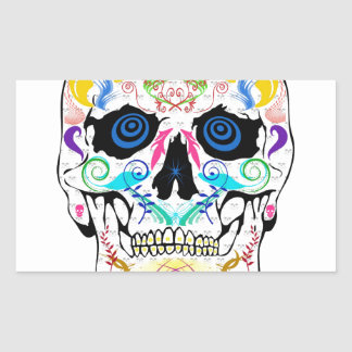 Scull Rectangle Stickers