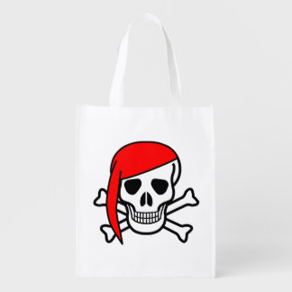 Scull With Cap Reusable Bag Market Totes