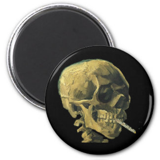 Scull with Cigarette Fridge Magnets