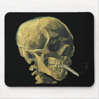 Scull with Cigarette Mouse Pad