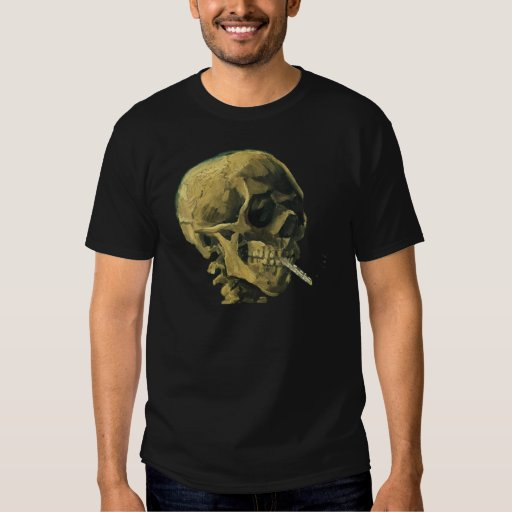 Scull with Cigarette T Shirt