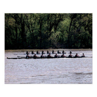 Scullers on the Potomac Poster