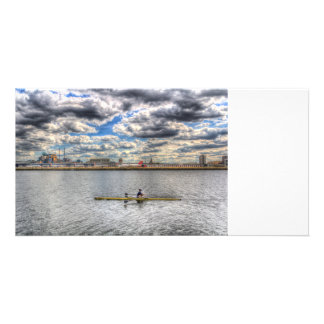 Sculling at London City Airport Card