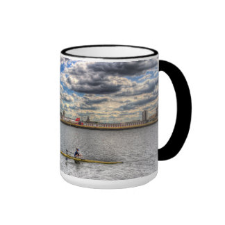 Sculling at London City Airport Coffee Mugs