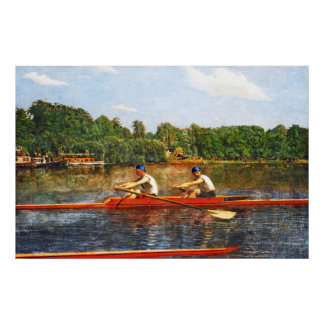 Sculling Boat Race - Biglin Bros. Racng by Eakins Poster