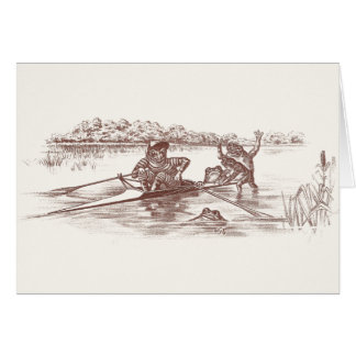 Sculling Frogs Card