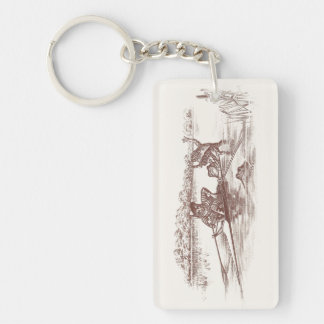 Sculling Frogs Keychain