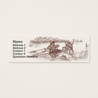 Sculling Frogs Mini Business Card