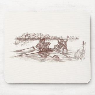 Sculling Frogs Mouse Pad