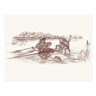 Sculling Frogs Postcard