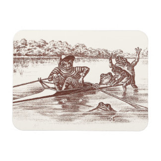 Sculling Frogs Rectangle Magnet