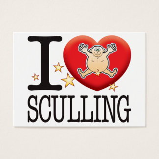 Sculling Love Man Business Card