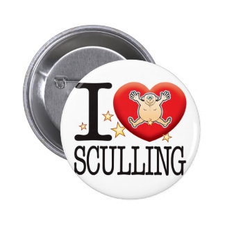 Sculling Love Man Pinback Button