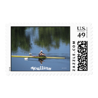 Sculling Postage Stamp