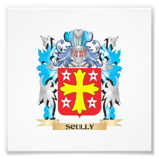 Scully Coat of Arms - Family Crest Photographic Print