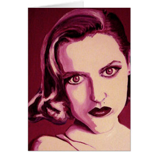 Scully Gillian Anderson X Files Greeting Card