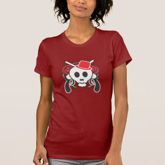 Scully with red hat, guns and roses (white) t-shirt