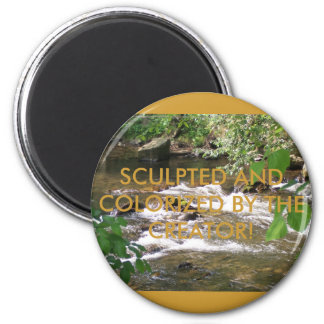 SCULPTED AND COLORIZED BY THE CREATOR 2 INCH ROUND MAGNET