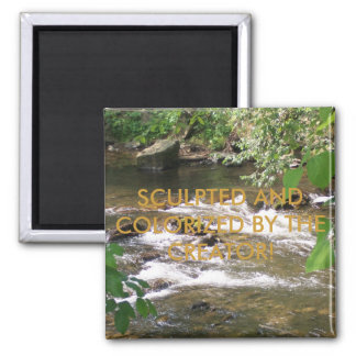 SCULPTED AND COLORIZED BY THE CREATOR 2 INCH SQUARE MAGNET