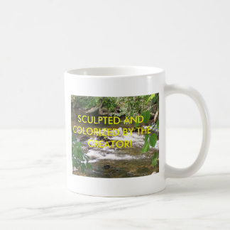 SCULPTED AND COLORIZED BY THE CREATOR COFFEE MUG