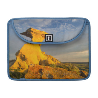 Sculpted Badlands Formation In Short Grass MacBook Pro Sleeve