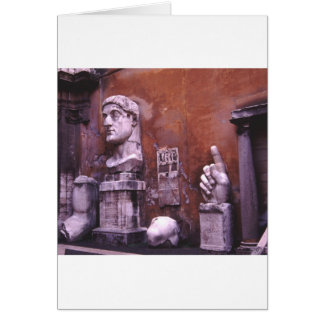 Sculpted Body Parts  Colossus of Constantine Rome Card